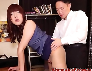 Japanese amateur tranny fucked right into an asshole from disavow