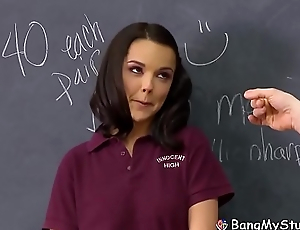 Hot Teenage Schoolgirl Dillion Harper Acquires Her Beaver Slammed By Coach