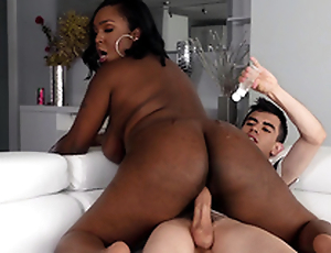 Jordi squirts oil all over Layton Benton's big black ass