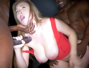 Lena Paul has take please team a few black dicks in failed double assignment