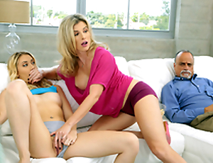 Dont Wake Him - Unmask Mom Cory Chase In the porn scene