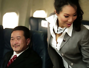 Kinky Getaway Hostesses In Amazing Airplane Group Fucky-fucky