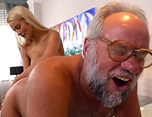 Chary Kiss and her a importantly doyen follower groupie - Grandpas Fuck Teens