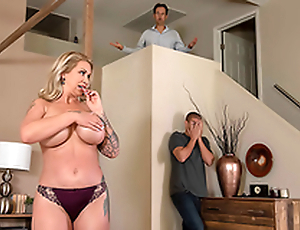 Mom Ryan Conner is sneaky and gets face fucked right beside tighten one's belt