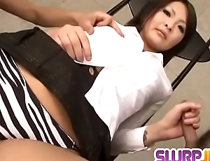 Reina Mizuki characterize oneself as screwed and made to suck a fat dick